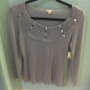 Reba brand S Valentina Sweater Light Grey  NWT